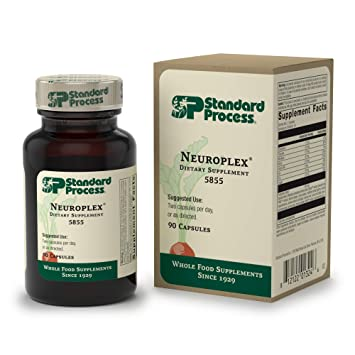 Standard Process - Neuroplex - Nervous and Endocrine System Support Supplement, Provides Thiamin, Riboflavin