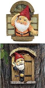 Design Toscano S/2 KNOTHOLE Gnomes