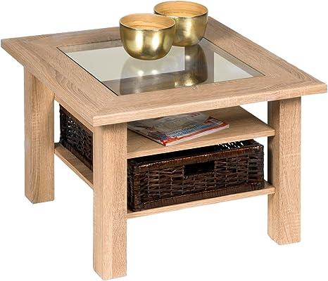 Alfa Tische M2472 Steffi 65 X 65 Cm Sonoma Oak Coffee Table Amazon De Kuche Haushalt