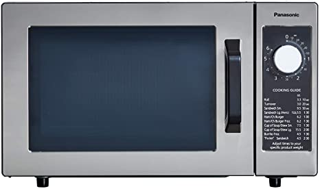 panasonic ne 1025f compact light duty countertop commercial microwave oven with 6 minute electronic dial control timer bottom energy feed 1000w 0 8