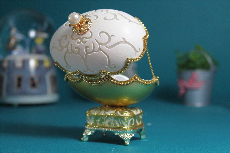 人気を誇る B01H8NU5YM女の子のためのオルゴールイースターエッグ卵殻オルゴール ゴールドJewerlyボックス B01H8NU5YM, 由比町:df0e9539 --- egreensolutions.ca