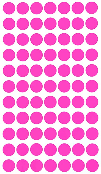 Amazon Com Colored Dots Stickers 15mm Approx 5 8 Inch 19 32