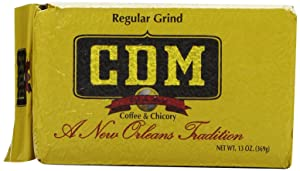 CDM Coffee and Chicory, Regular Grind, 13-Ounce Bricks (Pack of 4)