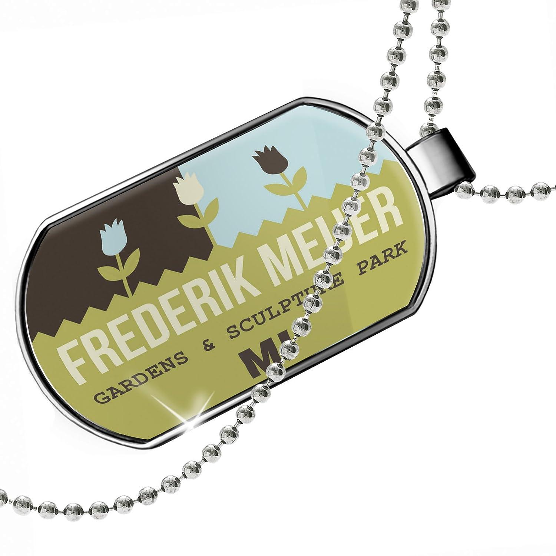 MI Dogtag Necklace NEONBLOND Personalized Name Engraved US Gardens Frederik Meijer Gardens /& Sculpture Park