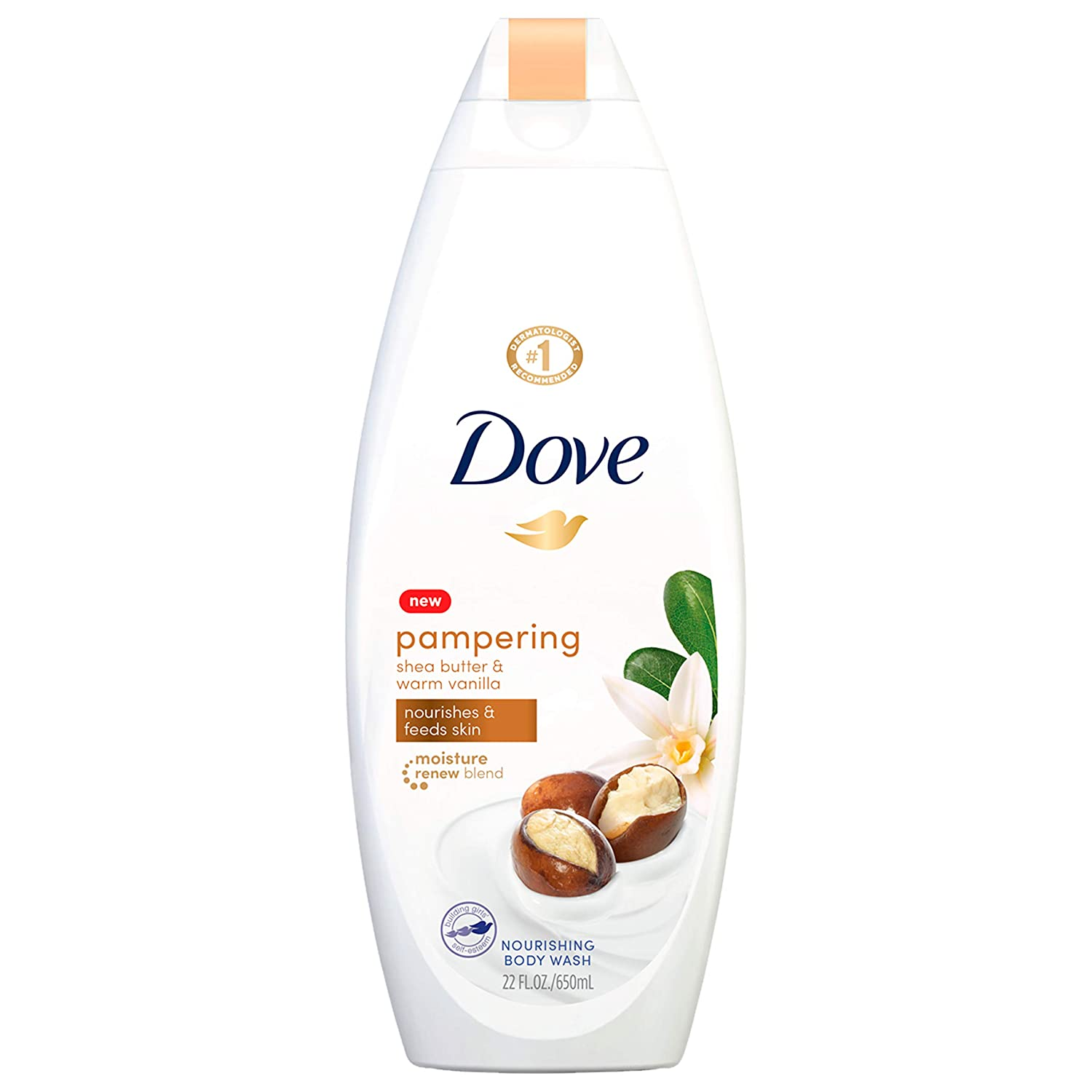 Amazon Com Dove Pampering Body Wash Nourishes Feeds Skin Shea Butter With Warm Vanilla Effectively Washes Away Bacteria While Nourishing Your Skin 22 Oz Bath And Shower Gels Beauty