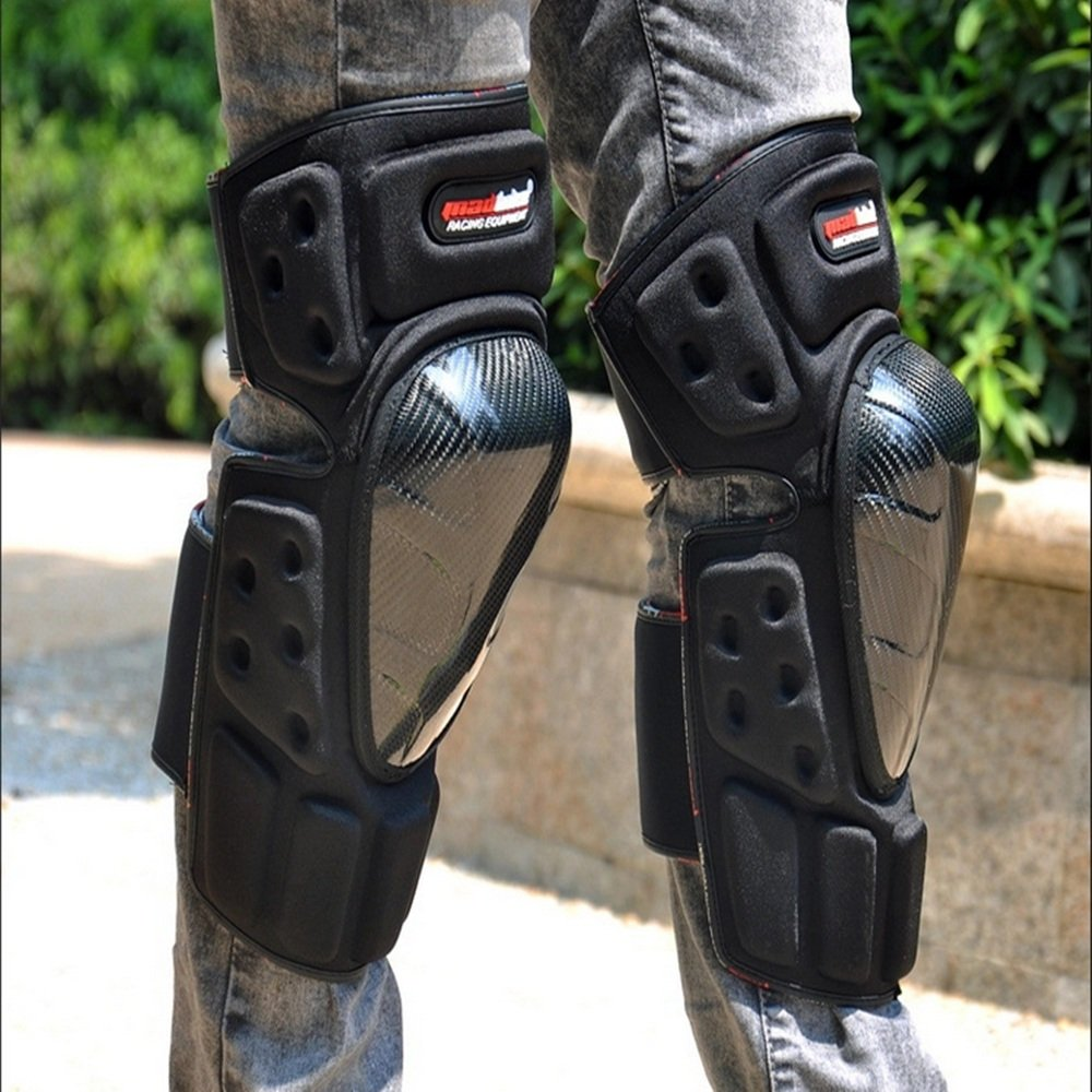 TLMYDD Anti-Fall Knee Pads Leg Protectors Professional Motorcycle Racing Off-Road Vehicle Safety Kneepad by TLMYDD (Image #6)