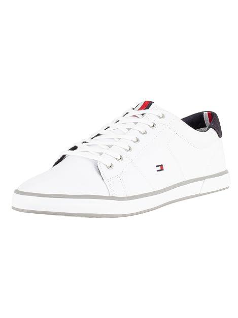 Tommy Hilfiger H2285arlow 1d, Zapatillas para Hombre, Blanco (White), EU: Amazon.es: Zapatos y complementos
