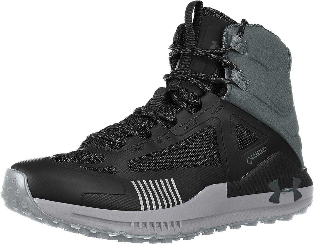 Adelantar hierba Nuevo significado  Amazon.com   Under Armour Men's Verge 2.0 Mid Gore-TEX Hiking Boot, Black  (003)/Pitch Gray, 8 M US   Hiking Boots