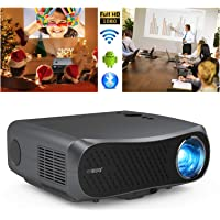Native 1080P Projector with WiFi and Bluetooth, 7200lumen Full HD Video Projector for Outdoor Movie Wireless Home…