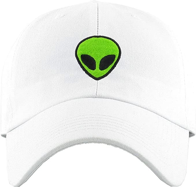 96d9202ba99 KBSV-028 WHT Alien Dad Hat Baseball Cap Polo Style Adjustable  Amazon.in   Sports