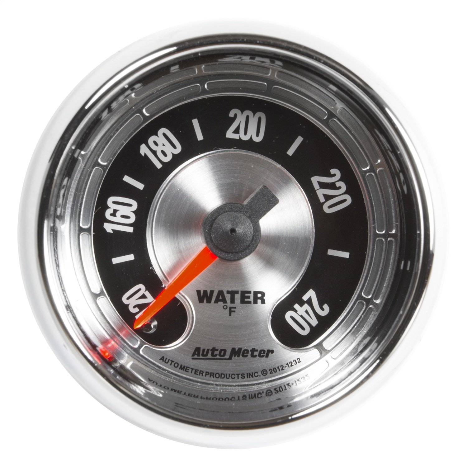 Auto Meter 1232 American Muscle 2-1/16'' Electric Water Temperature Gauge (100-240 Degree F, 52.4mm)