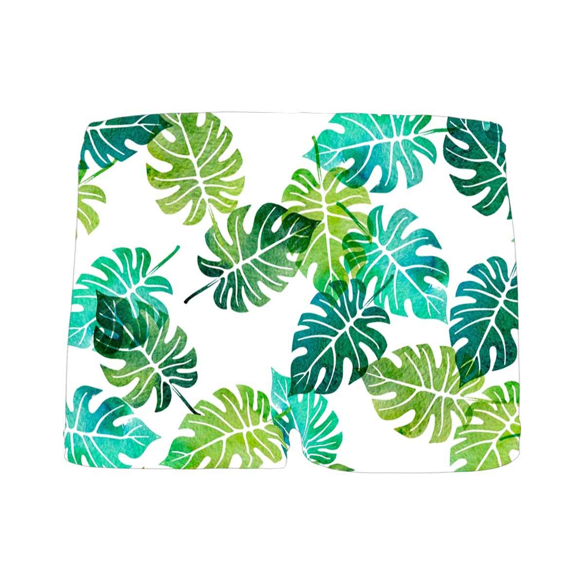 INTERESTPRINT Boys Watercolor with Green Tree Palm Leaves at White Background Boxer Brief Underwear 5T-2XL