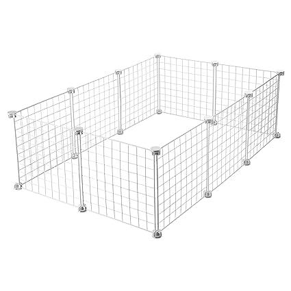 CagesCubes - Jaula CyC Medium para cobayas (2X3 Paneles en Blanco ...