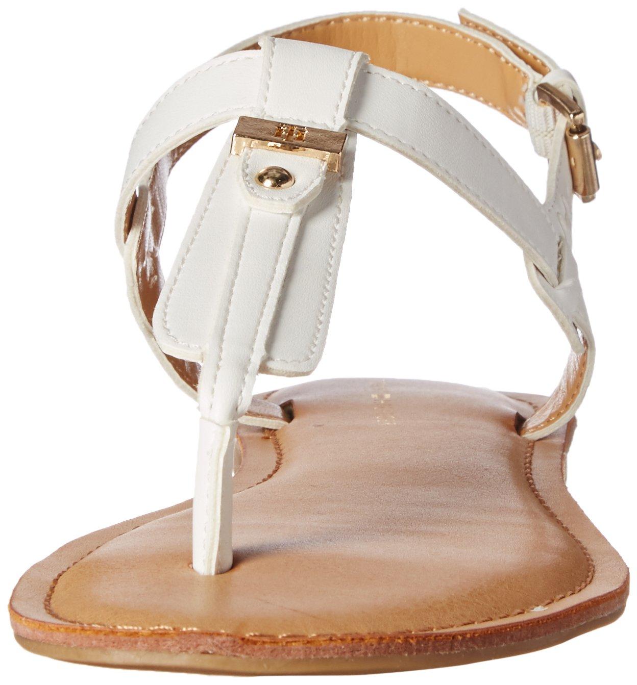 Tommy Hilfiger Women's Landmark Flat Sandal B01MA6IWUW 6.5 B(M) US|White