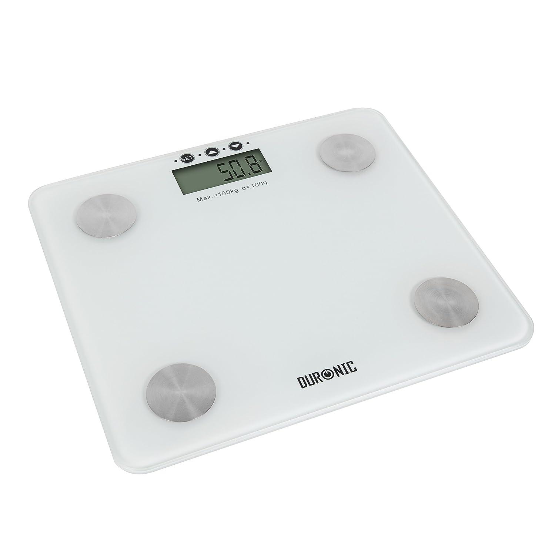 Duronic BS301 Bilancia diagnostica pesa persona digitale Bilancia massa corporea Bilancia composizione corporea Bilancia digitale fino a 180 kg Bilancia grasso corporeo indice massa grassa massa muscolare acqua corporea