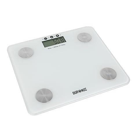 Duronic BS301 Báscula de Baño Digital de Alta Precisión Análisis de Masa Corporal Índice de Grasa