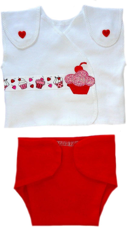 Jacquis Baby Girls Sweet Diaper Set