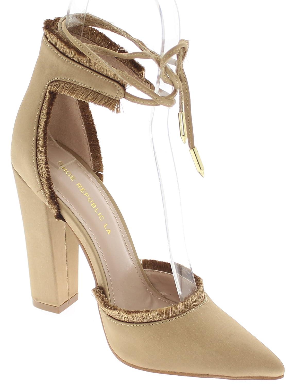 Amazon.com   Shoe Republic LA Pointy Toe d'Orsay Pump w/Fringe Accent Massa    Pumps