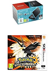 Nintendo New 2DS XL - Consola Portátil, Color Negro y Turquesa + Pokémon Ultrasol