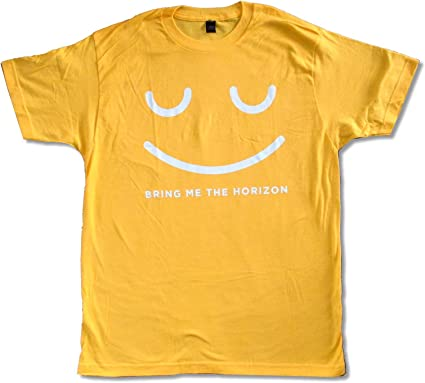 Bring Me The Horizon School Girl Image Cream T Shirt New Official Adult BMTH
