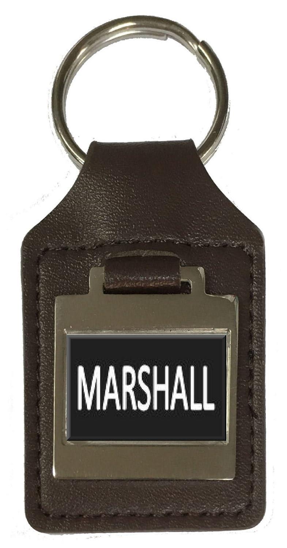 Leather Keyring Birthday Name Optional Engraving Marshall