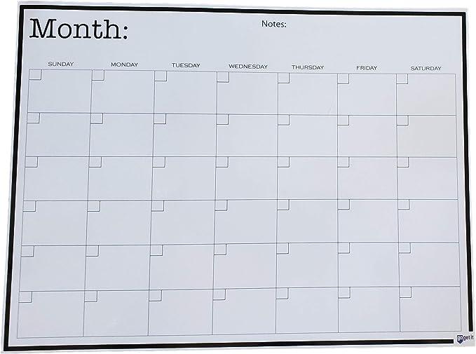 Calendario mensual de 16 pulgadas x 12 pulgadas Pizarra