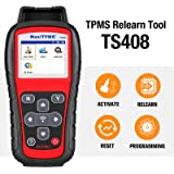 Autel TPMS Relearn Tool TS408, Upgraded Version of TS401, TPMS Reset, Sensor Activation, Program, Key Fob Testing, with Lifet