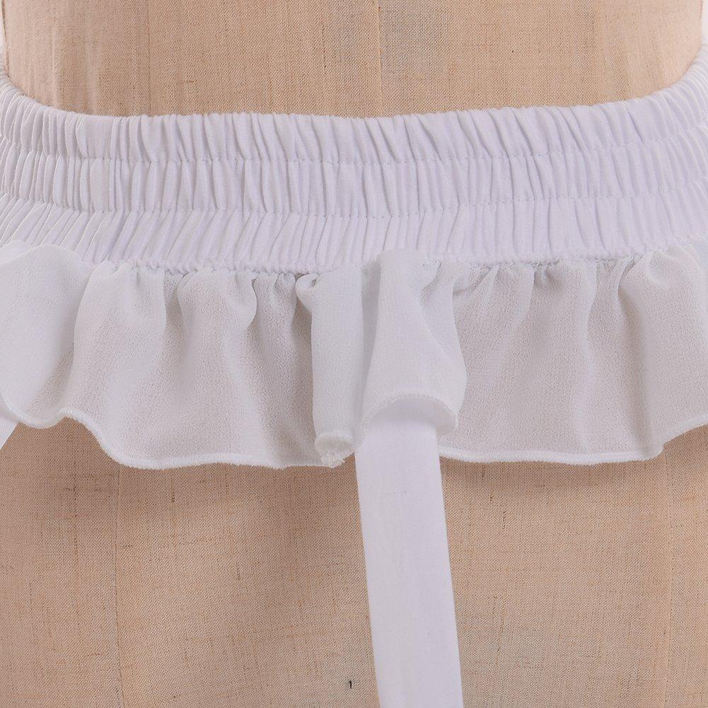 MAYSONG Womens Hoop Skirt 4-Loop Cage Skirt overskirt Bustle Petticoat Crinoline