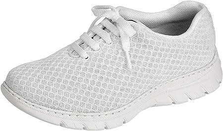 Zapatilla Tipo Blucher Unisex de la Marca DIAN, en Microfibra Color Blanco - calpe-53