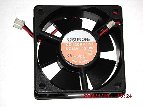 Sunon 60 * 60 * 25 mm KD1206PTS1 12 V 2.3 W 2 cables ventilador de ...