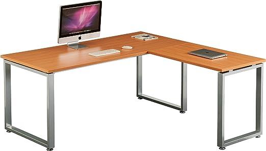 hjh OFFICE 674050 Escritorio WORKSPACE XL Haya/Plateado Mesa de ...
