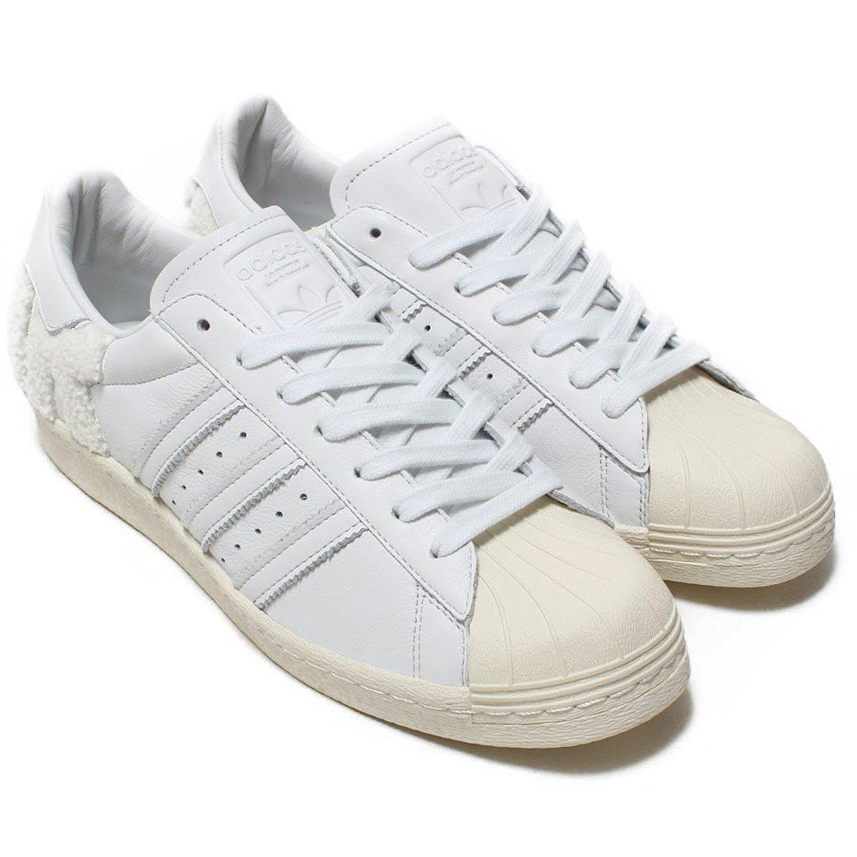 [アディダス] シューズ スーパースター 80s クリスタルホワイト/クリスタルホワイト/オフホワイト B37995 日本国内正規品 B07DVNM9RV