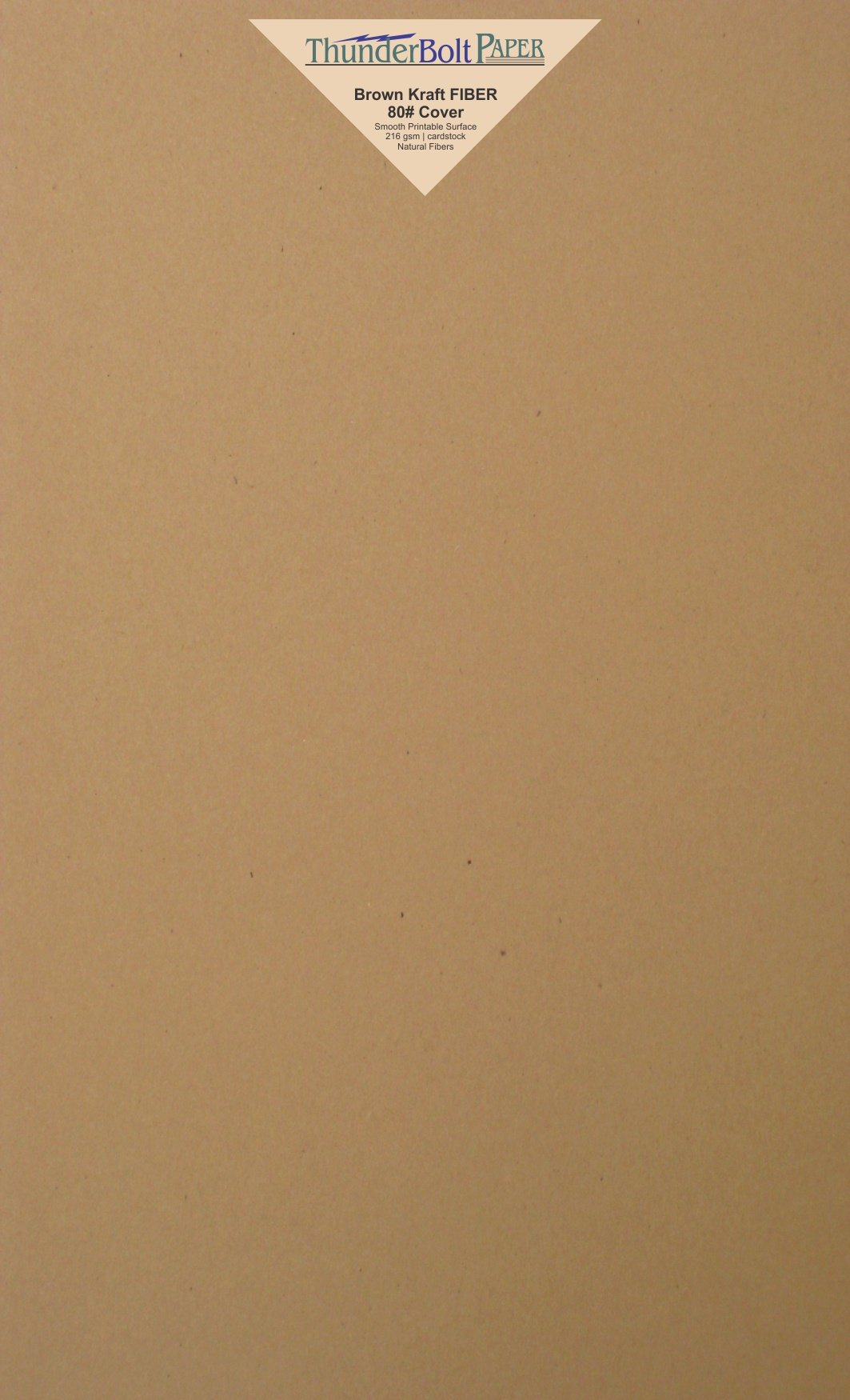 100 Brown Kraft Fiber 80# Cover Paper Sheets - 8.5'' X 14'' (8.5X14 Inches) Legal|Menu Size - Rich Earthy Color with Natural Fibers - 80lb/pound Cardstock - Smooth Finish
