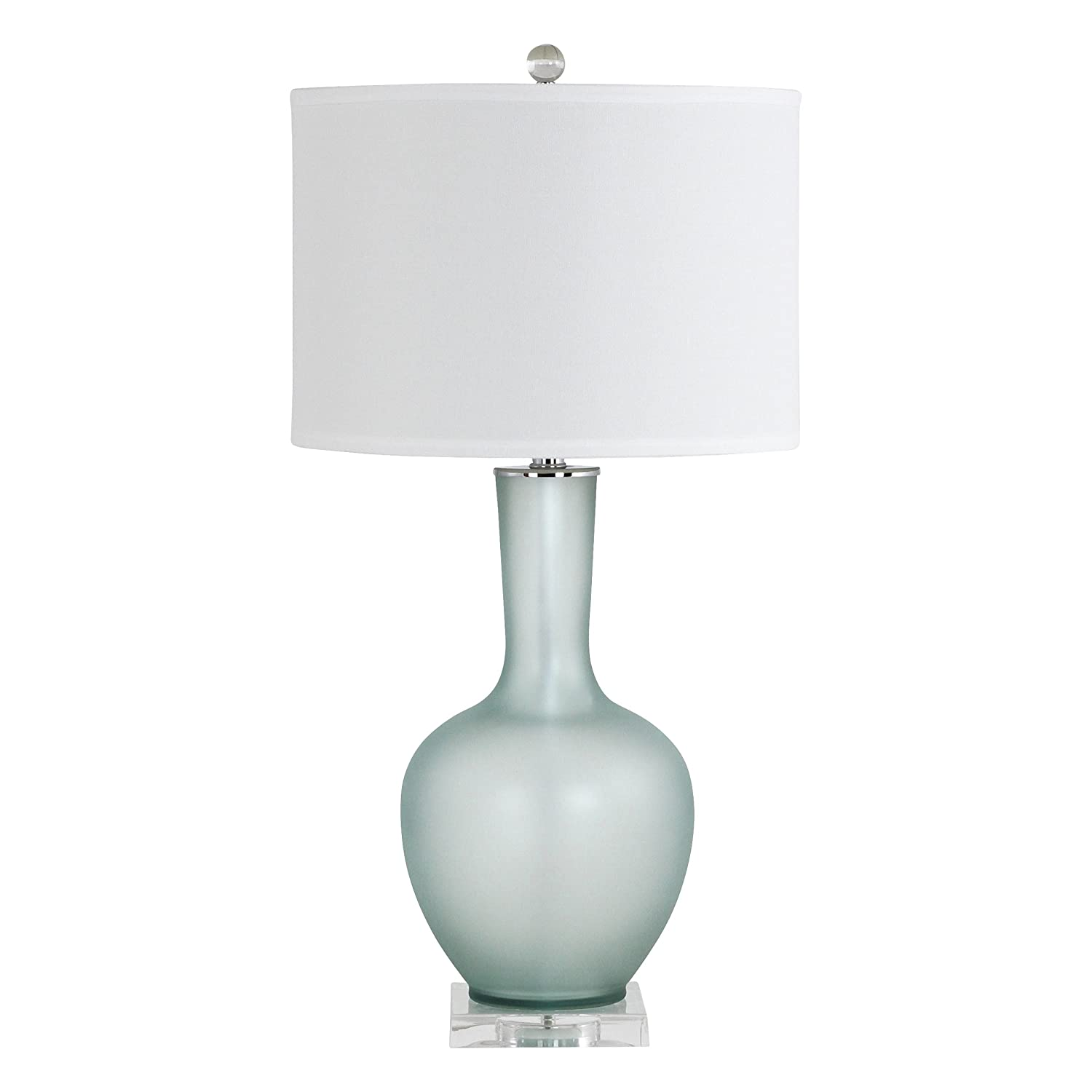Amazon Com Aspire Makea Frosted Glass Table Lamp Green Home Kitchen