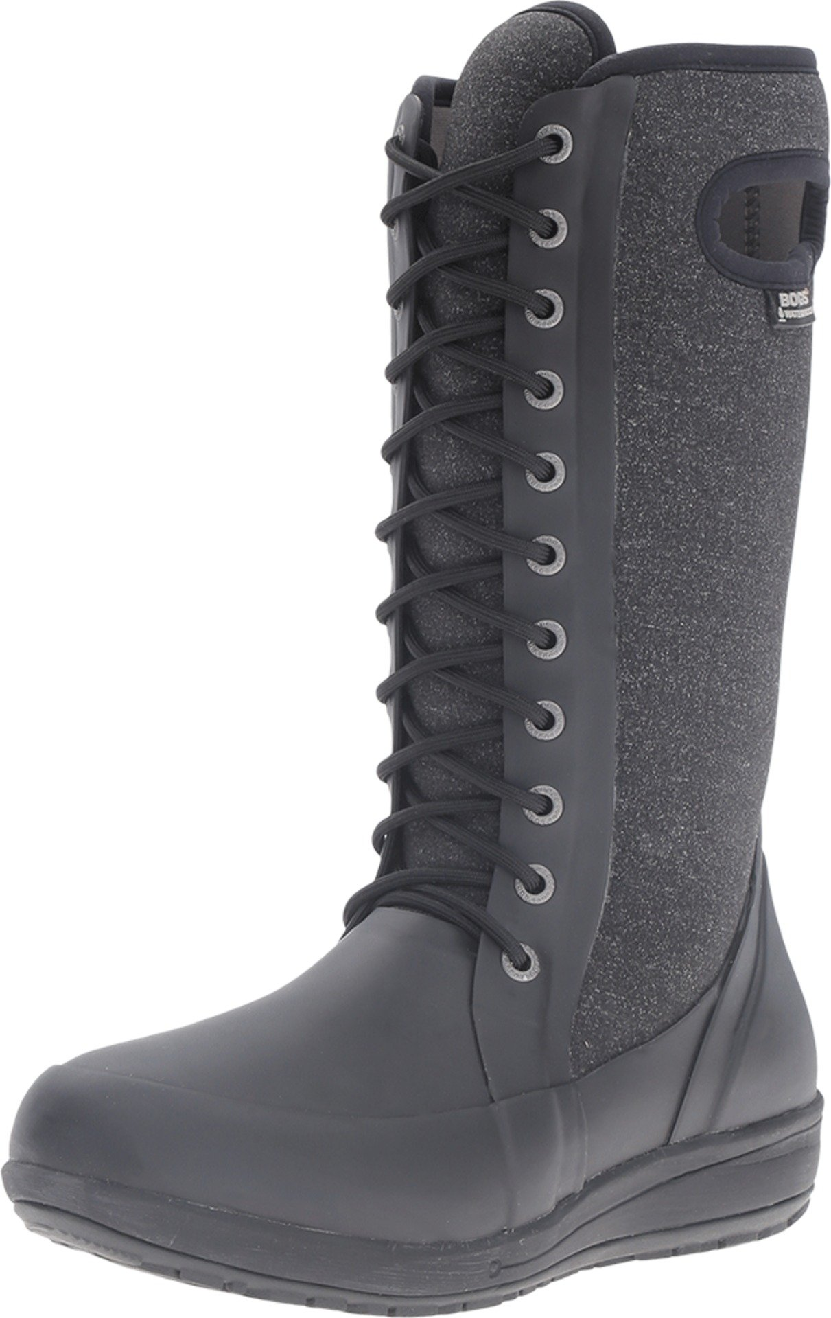 Bogs Women's Cami Lace Tall Melange Waterproof Winter Boot Blk Mlti 8 M US