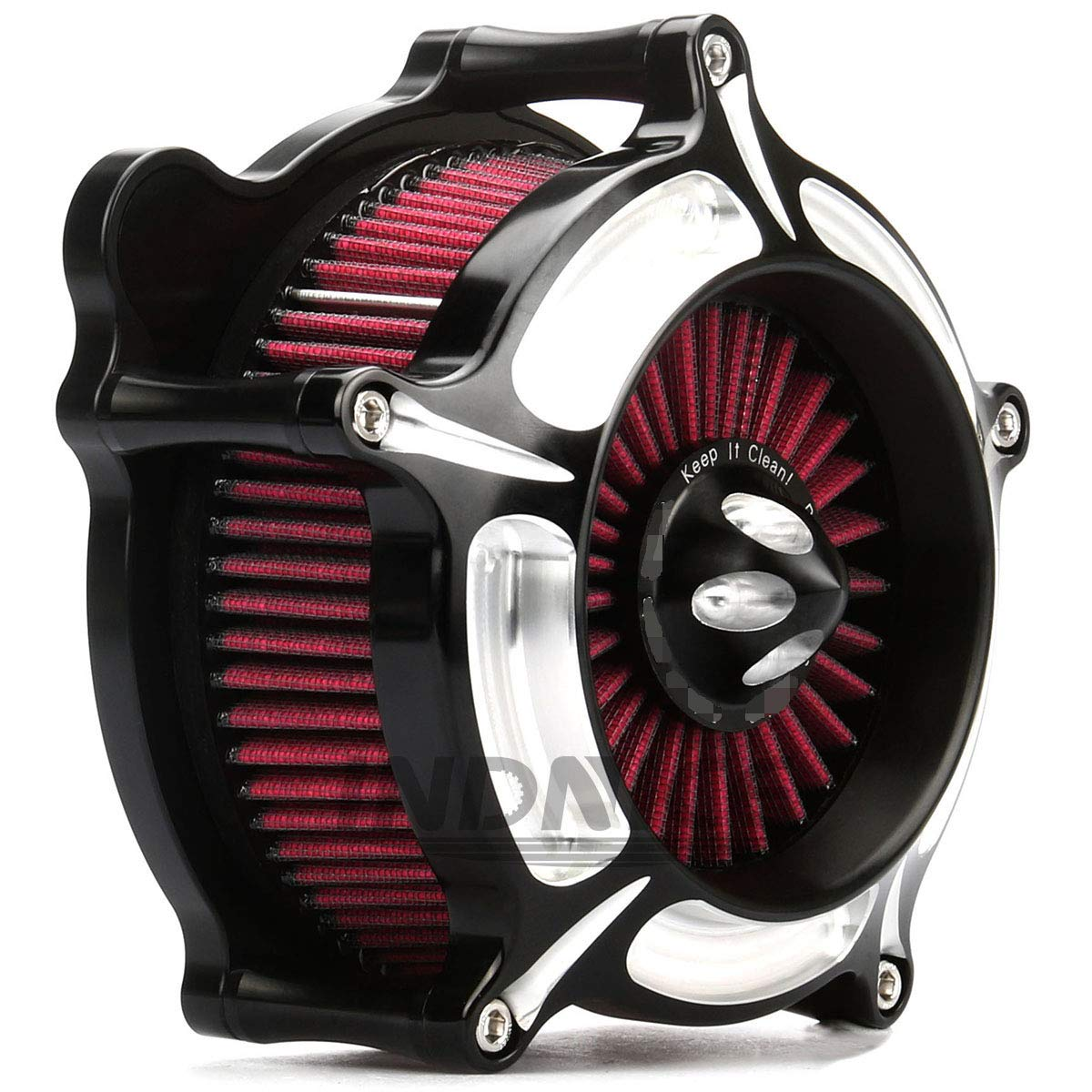 Turbine Black Edge Cut harley Air Cleaner street glide air filter harley road king air Intake system For Harley Touring parts 2008-2016 by HAPPY-MOTOR