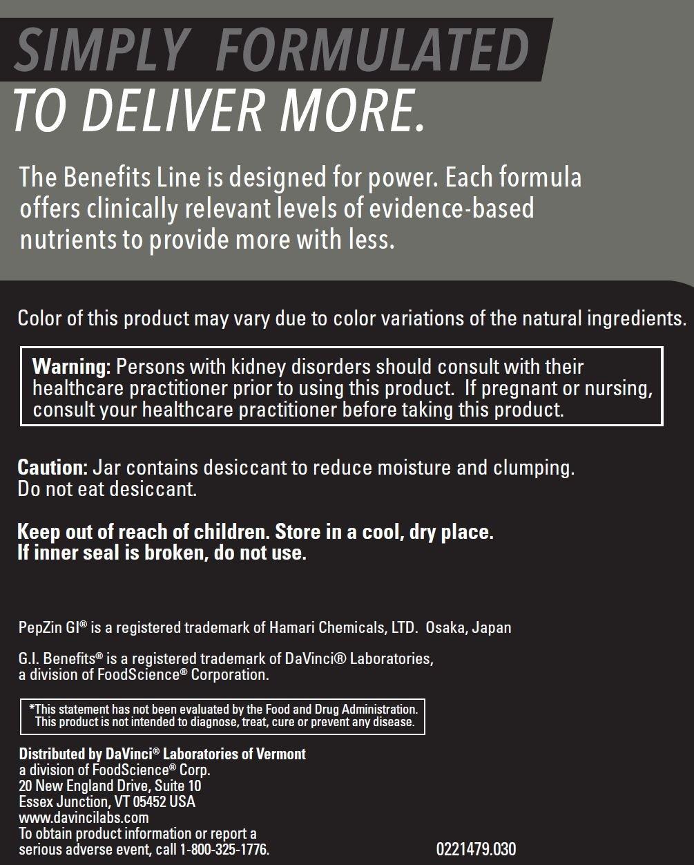G.I. Benefits Powder, 30 servings (13.55 Ounces)