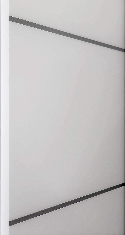 Closet Modern Solid Core Door Barn Sliding White Door 42 x 84 with Black Hardware Planum 0020 Matte White Rail 8FT Hangers Steel Set