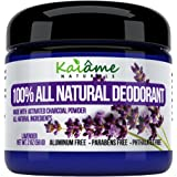 Kaiame Naturals Best Natural Deodorant (Lavender) with Activated Charcoal Powder, All Natural and Organic Ingredients, Aluminum Free, Parabens Free, Phthalates Free