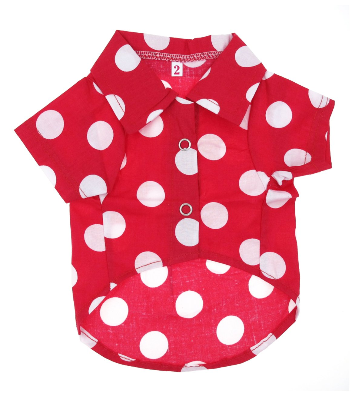 10 Casual Beach Red Polka Dot Shirt Dog Clothes for Cat Dog Puppy Pet (10)