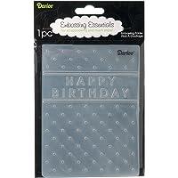 Darice Carpetas de estampación, Plantilla Feliz cumpleaños, Plastic