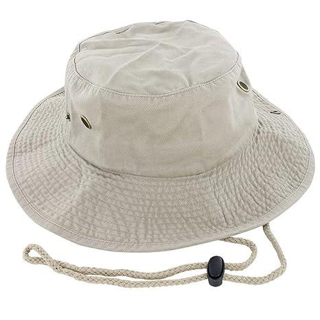 Amazon.com   9Proud Khaki Fishing Military Hunting Safari Hat Cap ... 3c2cd68f374