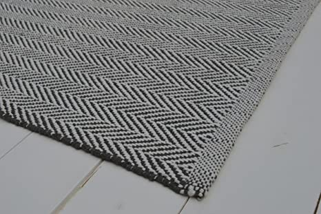Pavimento Bianco E Grigio : Pavimento tappeto cotone a spina di pesce weave grigio
