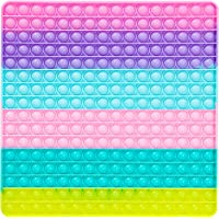 Big Size Push Pop Fidget Toy, Big Rainbow pop, 256 Bubbles Big Size Square Squeeze Toys for Kids and Adults 12 inch Big…