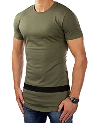 JACK   JONES Herren T-Shirt Longshirt jcoALLOY Print Aufdruck Regular Fit  (S, 82da7c5394