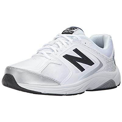 New Balance Men's 847V3 Walking Shoe, White/Grey, 9 2A US | Walking