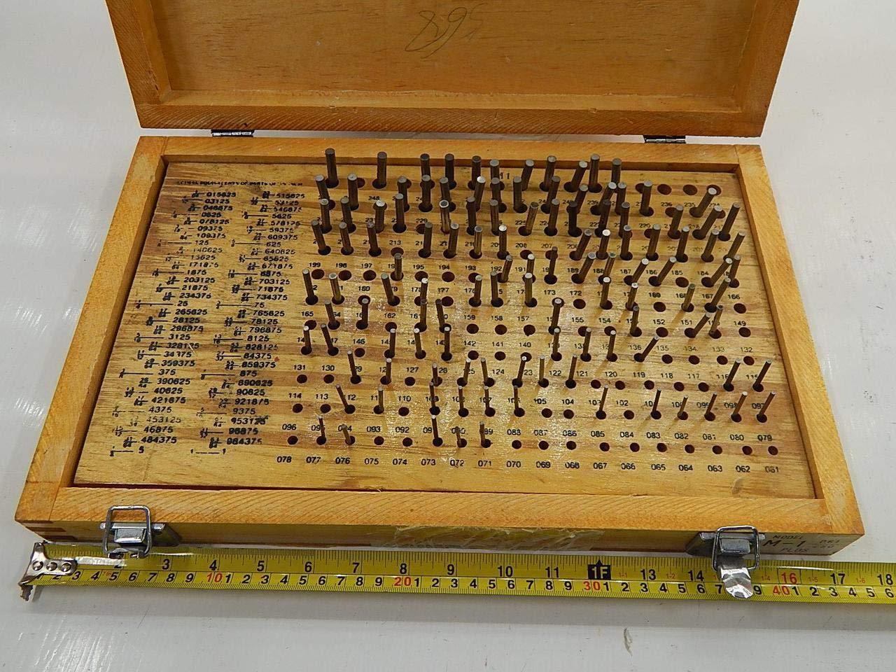 """4101-0011 190 PIECE M1 MINUS PIN GAGE SET .061-.250/"""""""