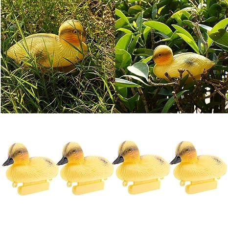 Floating Duck Ducklings Fish Pond Ornament Plastic Decoy Mallard Lifesize