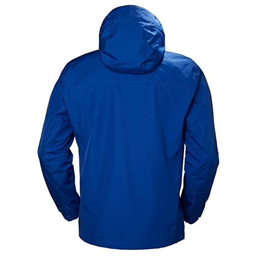 Helly Hansen Mens Dubliner Jacket Waterproof, Windproof, Breathable Shell Rain Coat with Packable Hood