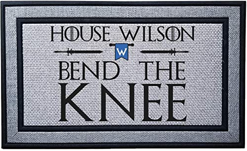 Personalized Bend The Knee Heavy Duty Door Mat, Indoor Covered Entry Custom Bend The Knee Doormat